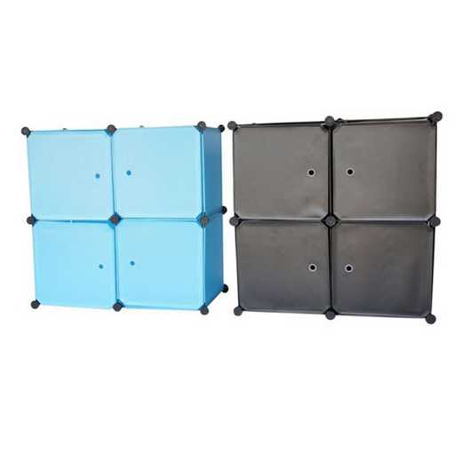 SNAPSCUDRESS-LKL15-BLK: DormCo Snap Cubes - Dorm Dresser - Black