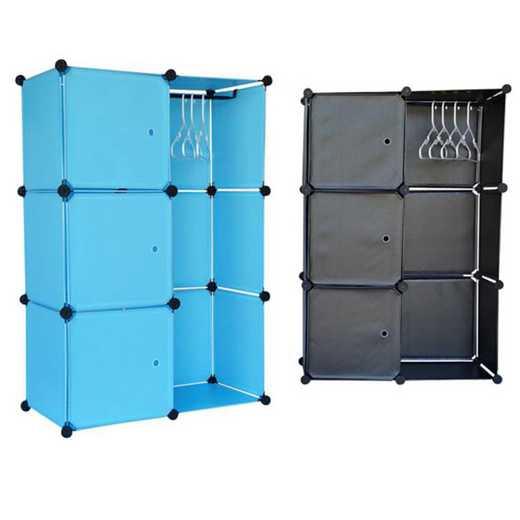 SNAPSHCLOSET-LKL12-BLK: DormCo Snap Cubes - Dorm Storage The Spare Closet - Black