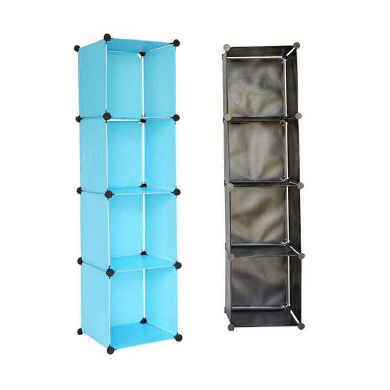 SNAPSHTOWER-LKL20-AQUA: DormCo Snap Cubes - College Dorm Tower Organizer - Aqua