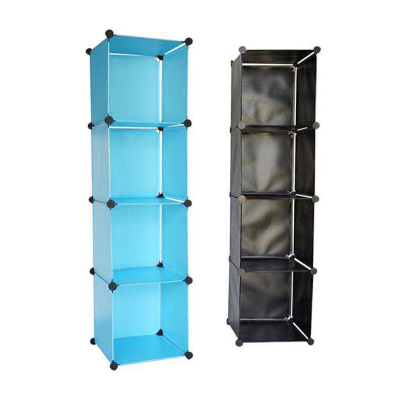 SNAPSHTOWER-LKL20-BLK: DormCo Snap Cubes - College Dorm Tower Organizer - Black