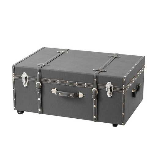 BUCK2-E-SCCHAR: The Sorority College Dorm Trunk - Charcoal