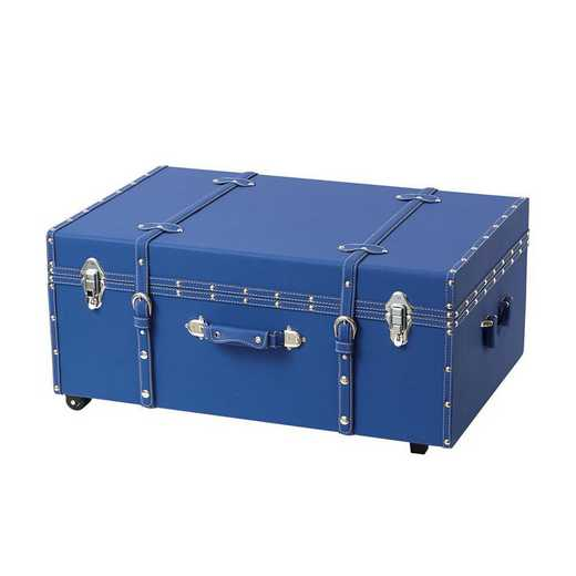 BUCK2-E-11124PB: The Sorority College Dorm Trunk - Pacific Blue