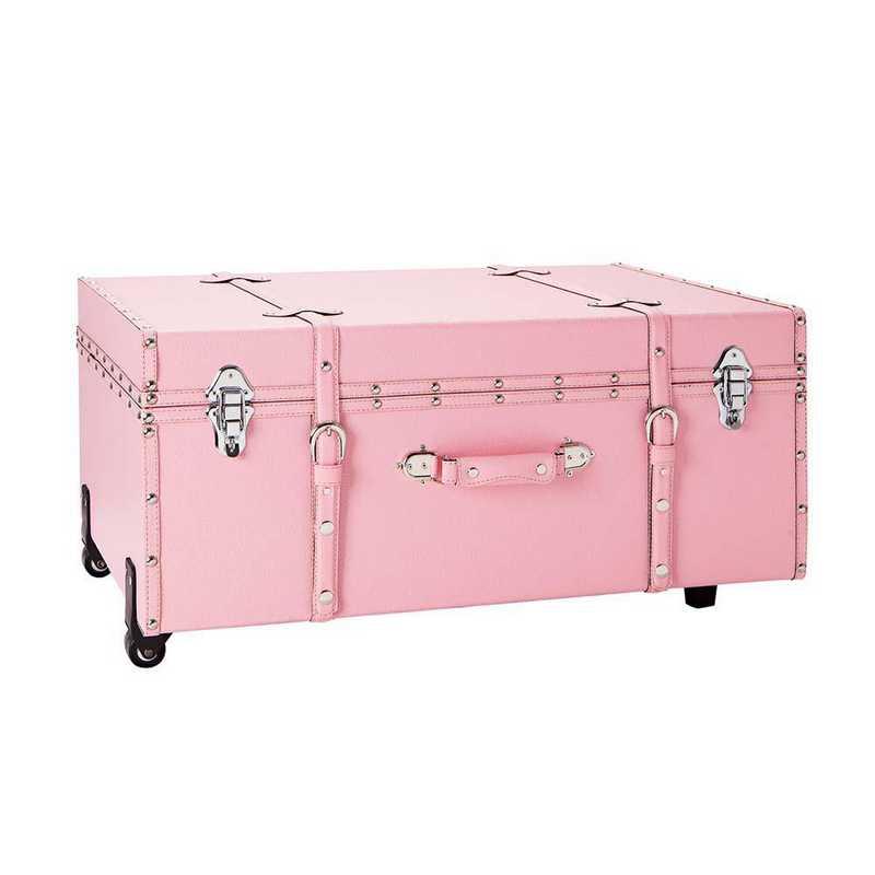 BUCK2-E-SCBPINK: The Sorority College Dorm Trunk - Baby Pink