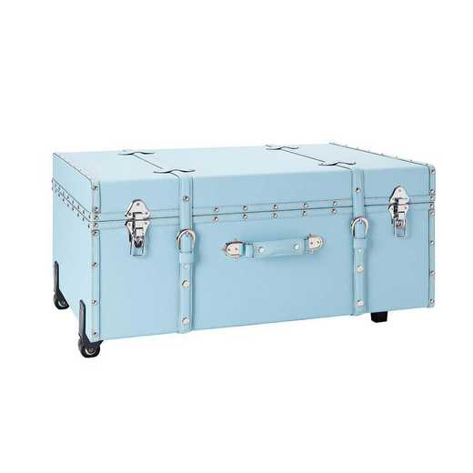 BUCK2-E-SCEGRAYBLU: The Sorority College Dorm Trunk - Calm Blue