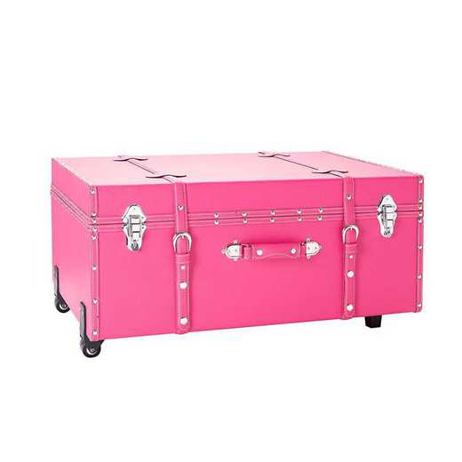 BUCK2-E-11124CP: The Sorority College Dorm Trunk - Cherry Pink