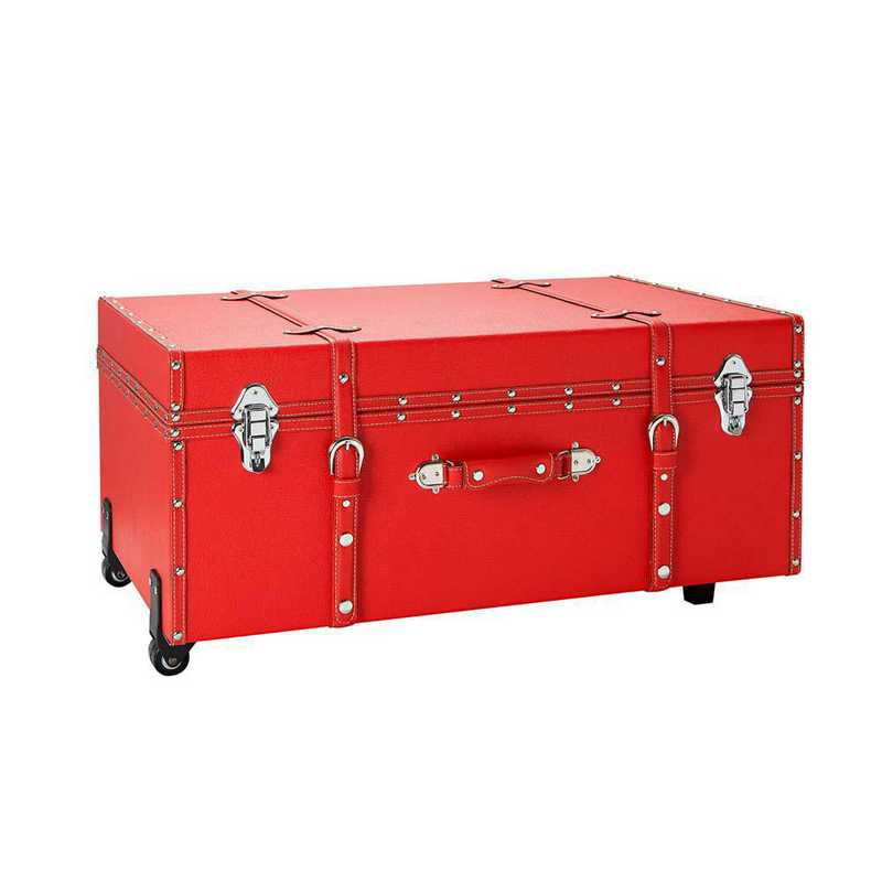 BUCK2-E-11124red: The Sorority College Dorm Trunk - Red