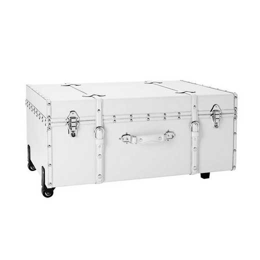 BUCK2-E-SCWHT: The Sorority College Dorm Trunk - White