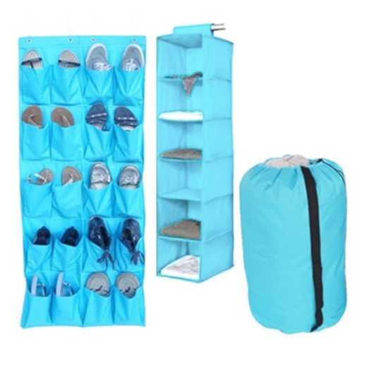 TUSK3P-AQUA: DormCo TUSK® 3-Piece College Storage Closet Pack - Aqua