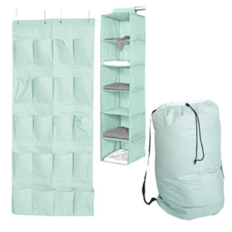 Admirable Tusk 3 Piece College Dorm Storage Closet Pack Calm Mint Over Door Shoe Version Gmtry Best Dining Table And Chair Ideas Images Gmtryco