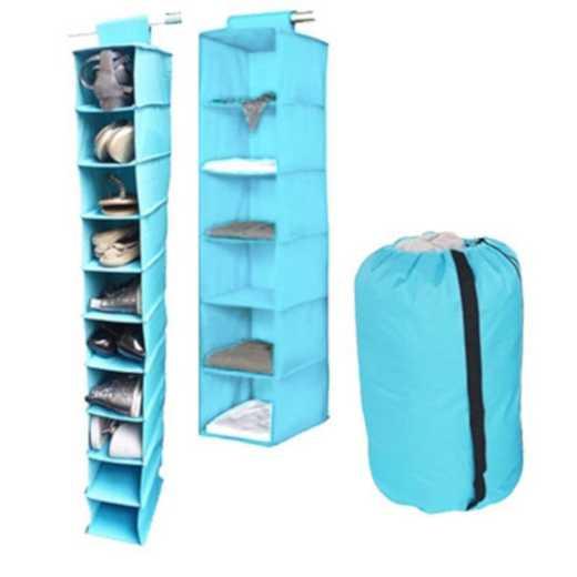 TUSK3-AQUA: DormCo TUSK® 3-Piece College Storage Closet Set - Aqua