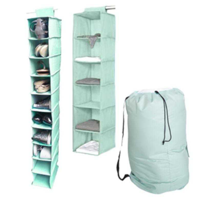 TUSK3-MINT: DormCo TUSK® 3-Piece College Storage Closet Set - Calm Mint