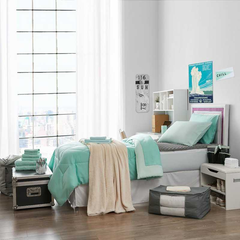 Awesome Ultimate College Dorm Supplies Pack Twin Xl Yucca Hint Of Mint Color Set Download Free Architecture Designs Scobabritishbridgeorg