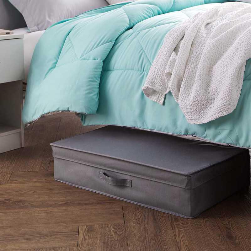 TUSK4FB-GRAY: DormCo TUSK Underbed Dorm Folding Box 4-Pack - Gray
