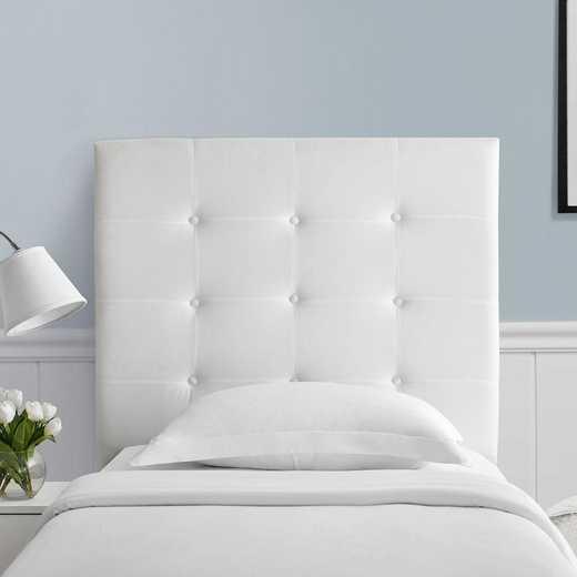 2113T-CDH-WHT: Villa Classic - Tufted - Plush College Dorm Headboard -White