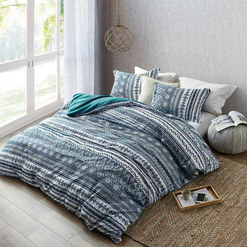 411-DUVT-TXL: DormCo Zanzibar Teal - Twin XL Dorm Duvet Cover