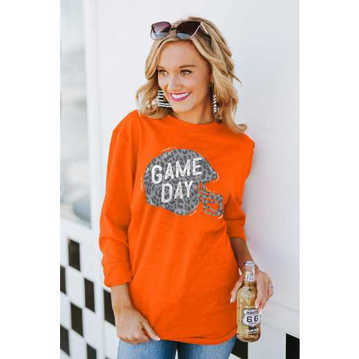 """The """"For the Home Team"""" Game Day Varsity Crew Tee Orange By Gameday Couture"""