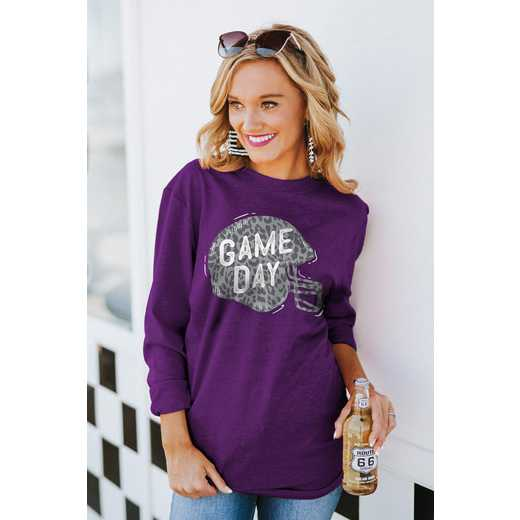 """The """"For the Home Team"""" Game Day Varsity Crew Tee Purple By Gameday Couture"""