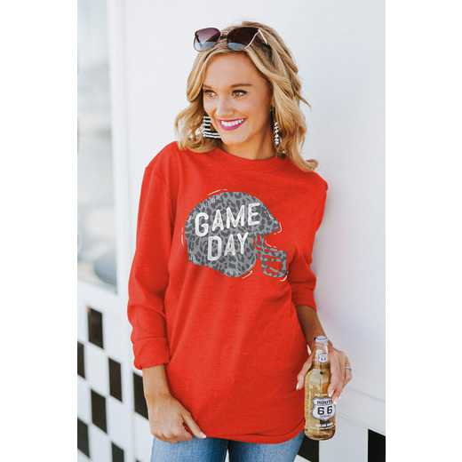 """The """"For the Home Team"""" Game Day Varsity Crew Tee Red By Gameday Couture"""