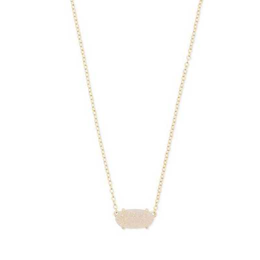 KSCEVERGIRI-NMT: Ever Gold Pendant Necklace in Iridescent Drusy(2)