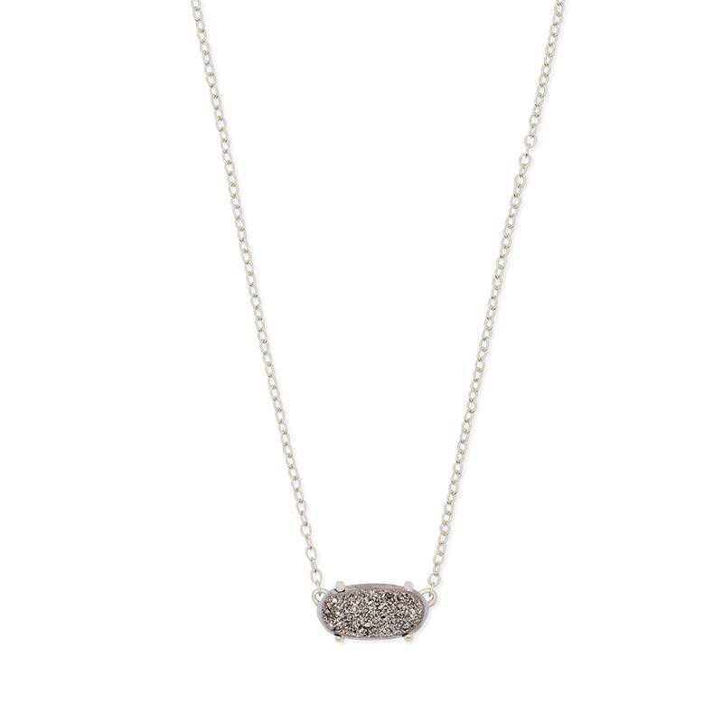 4217717449: Ever Silver Pendant Necklace in Platinum Drusy