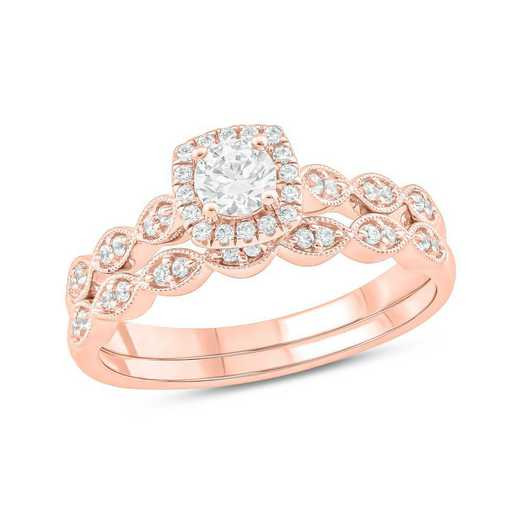 1/2 CT.T.W. Diamond Fashion Ring 10K Rose Gold