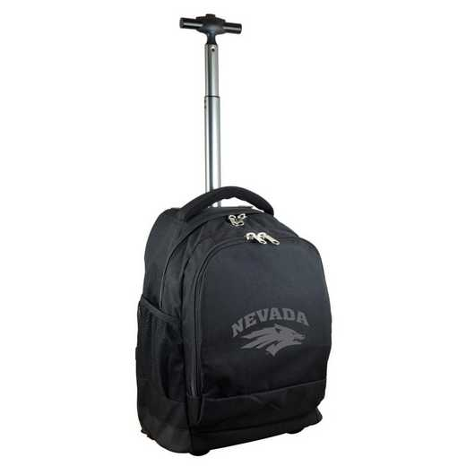 CLNAL780-BK: NCAA Nevada Wolf Pack Wheeled Premium Backpack