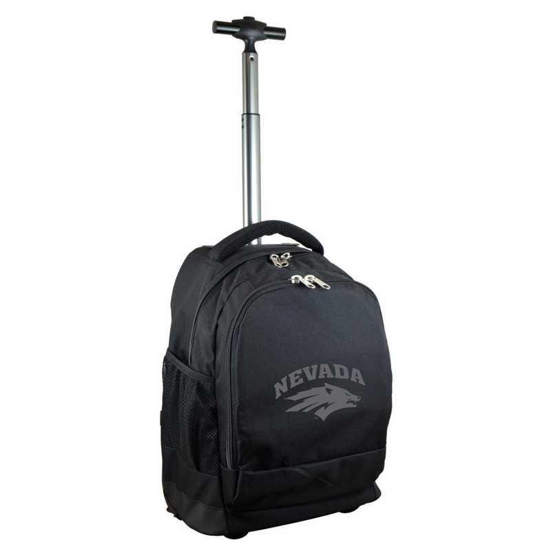 CLNAL780-BK: NCAA Nevada Wolf Pack Wheeled Premium Backpack