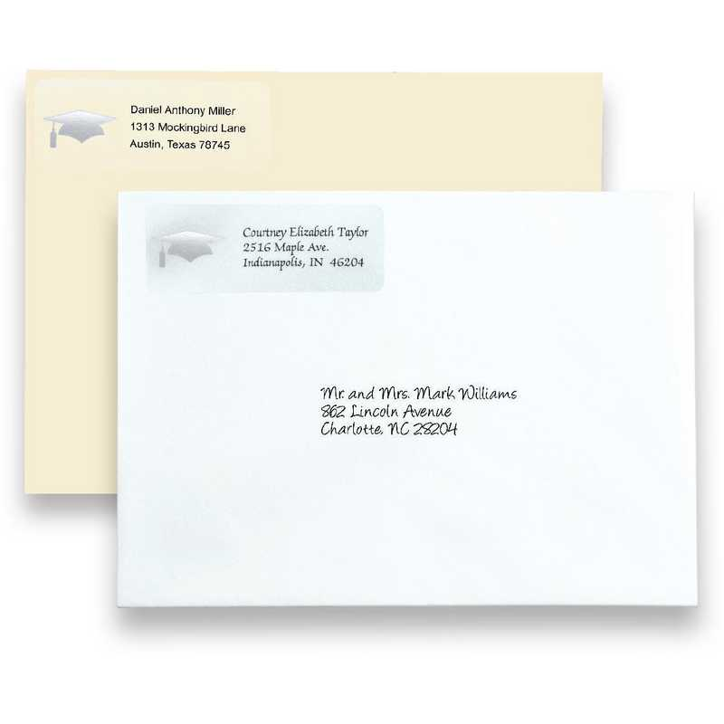 Graduation Envelope Return Address Labels