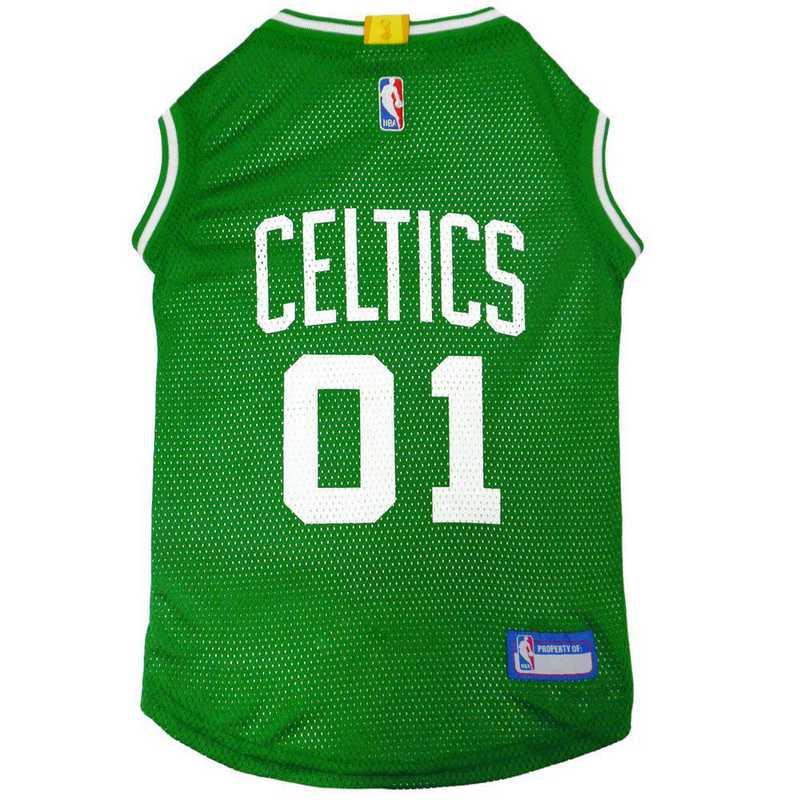 CEL-4047-XL: BOSTON CELTICS BASKETBALL Mesh Pet Jersey