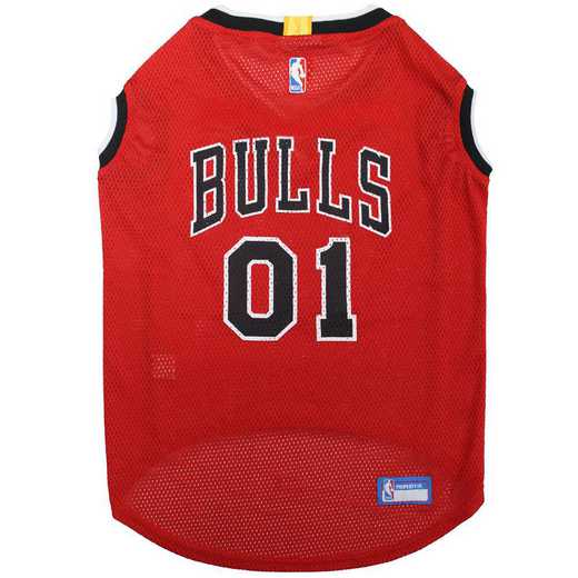BUL-4047-XL: CHICAGO BULLS BASKETBALL Mesh Pet Jersey