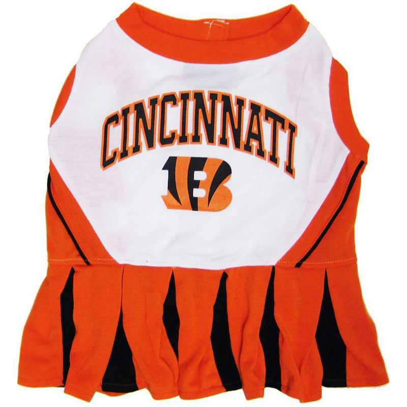 CIN-4007: CINCINNATI BENGALS Pet Cheerleader Outfit