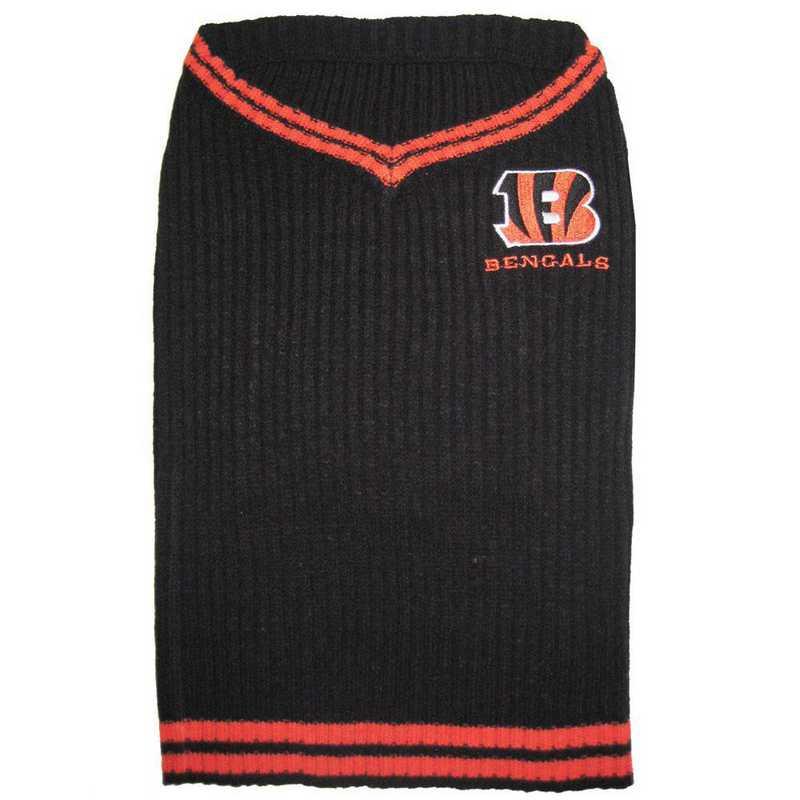 CINCINNATI BENGALS Pet V-Neck Sweater