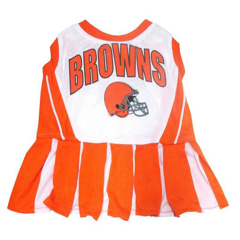 CLE-4007: CLEVELAND BROWNS Pet Cheerleader Outfit