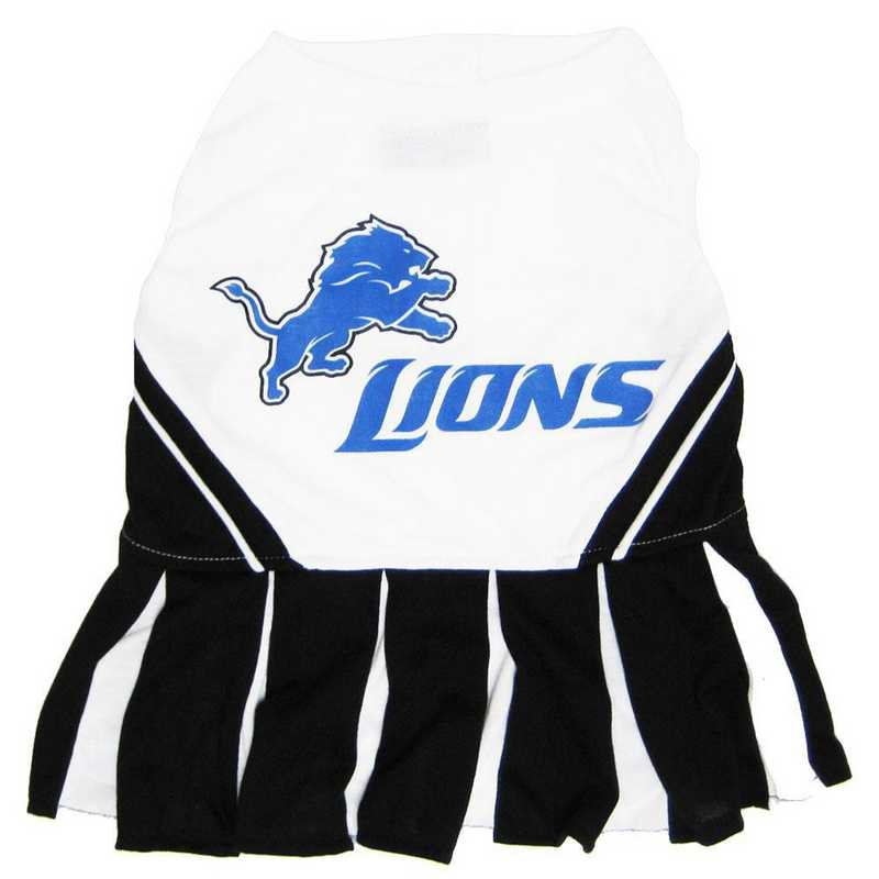 DET-4007: DETROIT LIONS Pet Cheerleader Outfit