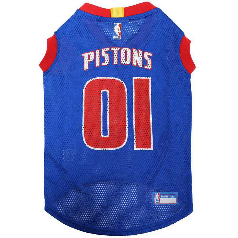 PST-4047-XL: DETROIT PISTONS BASKETBALL Mesh Pet Jersey