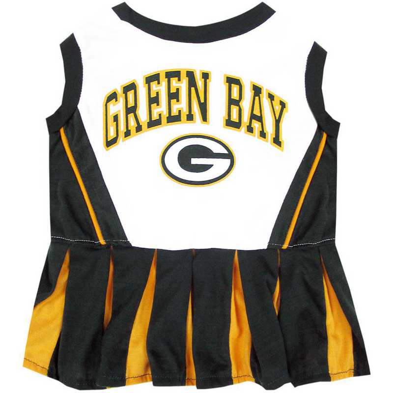 GBP-4007: GREEN BAY PACKERS Pet Cheerleader Outfit