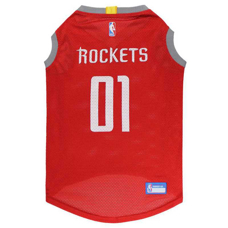 RKT-4047-XL: HOUSTON ROCKETS BASKETBALL Mesh Pet Jersey