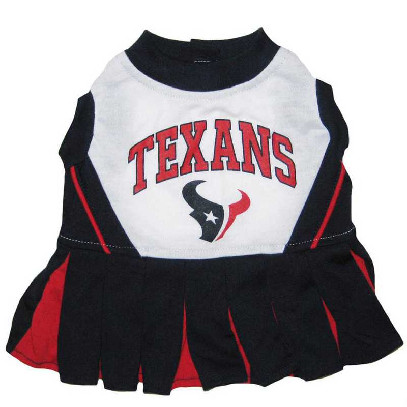 HOU-4007: HOUSTON TEXANS Pet Cheerleader Outfit