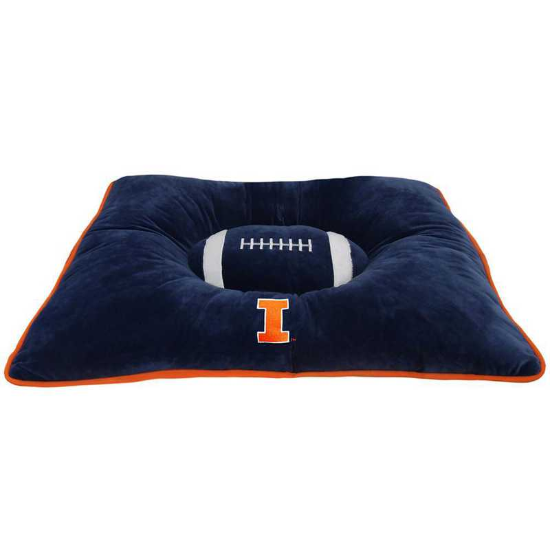 IL-3188: ILLINOIS FIGHTING ILLINI PILLOW BED