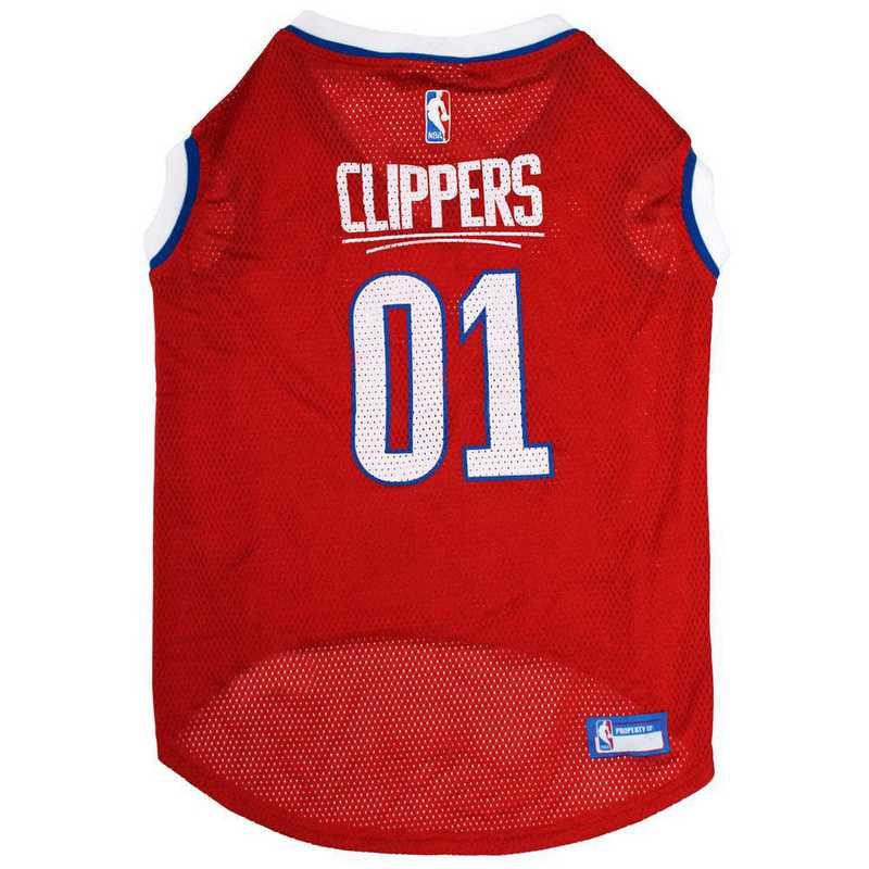LAC-4047-XL: LA CLIPPERS BASKETBALL Mesh Pet Jersey