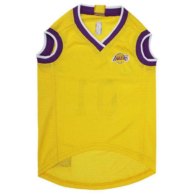 size 40 f26a5 6d377 LA LAKERS Mesh Basketball Pet Jersey