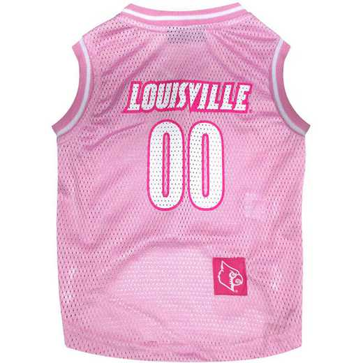 LOUISVILLE Pink Basketball Pet Jersey