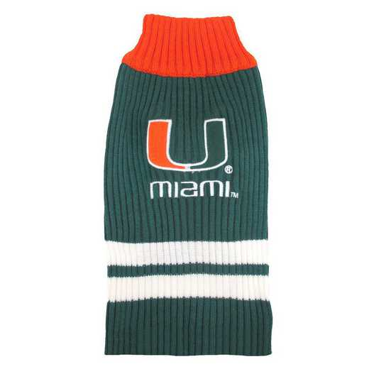 U OF MIAMI Pet Turtleneck Sweater