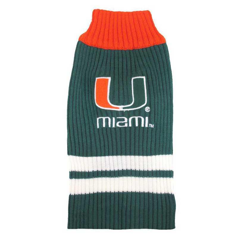 U OF MIAMI Pet Turtleneck Sweater