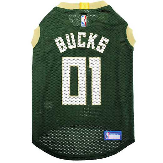 BUK-4047-XL: MILWAUKEE BUCKS BASKETBALL Mesh Pet Jersey