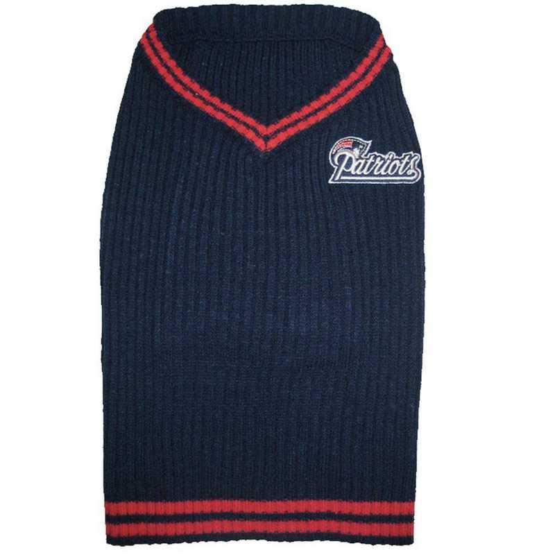 NEW ENGLAND PATRIOTS Pet V-Neck Sweater