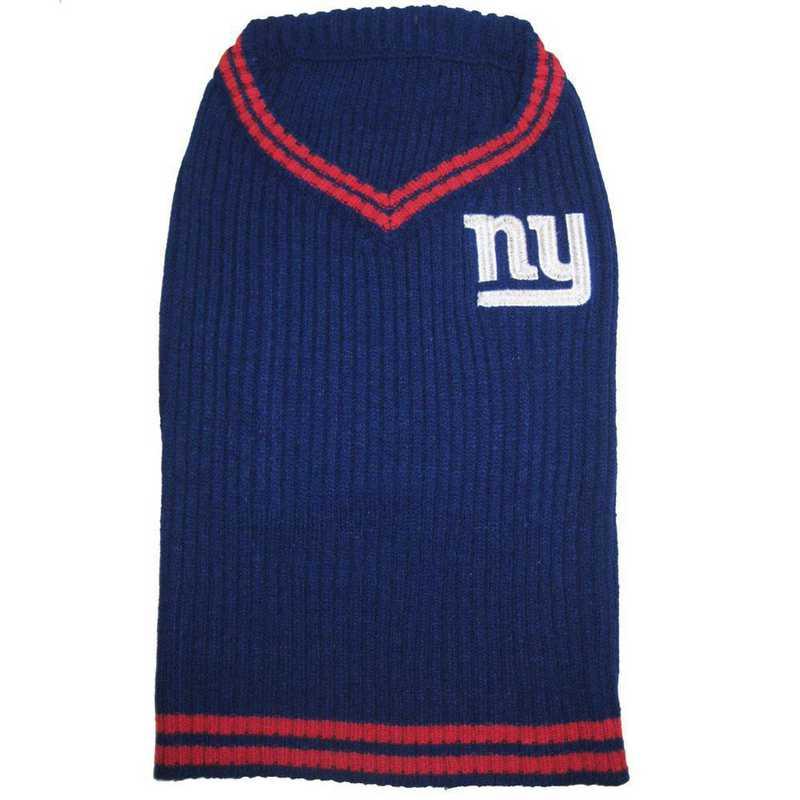 NEW YORK GIANTS Pet V-Neck Sweater