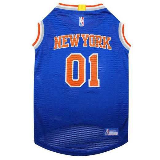 KNX-4047-XL: NEW YORK KNICKS BASKETBALL Mesh Pet Jersey