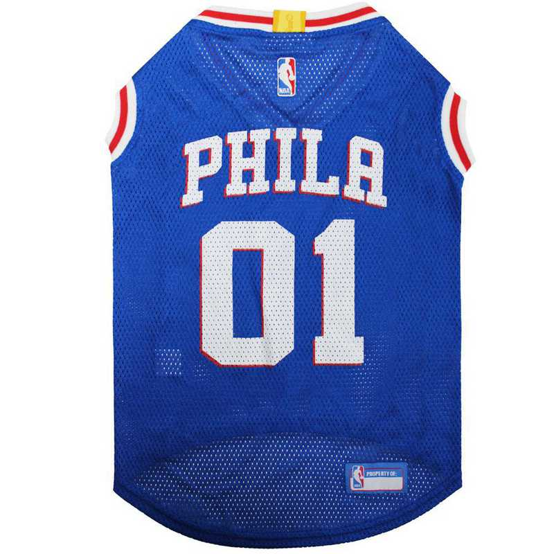 76R-4047-XL: 76ERS BASKETBALL Mesh Pet Jersey