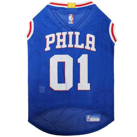 76ERS Mesh Basketball Pet Jersey